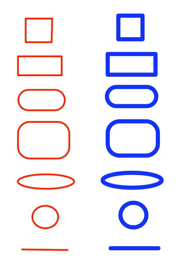 枠線の変更方法の例