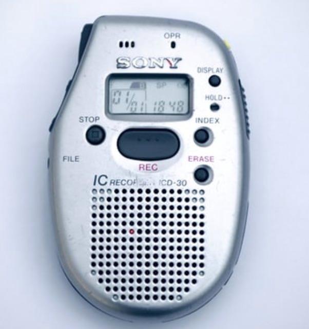 ソニーのICレコーダーICD30