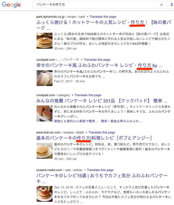 パンケーキの作り方のフォーマット